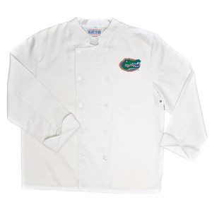 NCAA Florida Gators Classic Chef Coat Professional Style Tailgate White