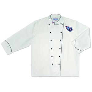 NFL Tennessee Titans Premium Chef Coat Professional Tailgate Style White