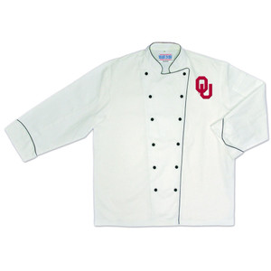 NCAA Oklahoma Sooners Premium Chef Coat Professional Style Tailgate White
