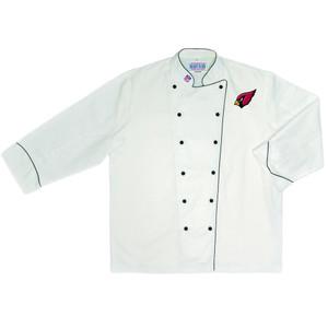 NFL Arizona Cardinals Premium Chef Coat Professional Style Tailgate White