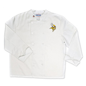 NFL Minnesota Vikings Classic Chef Coat Professional Style Tailgate White