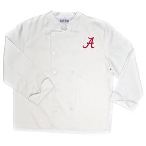 NCAA Alabama Crimson Tide Classic Chef Coat Professional Style Mens White