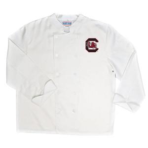 NCAA South Carolina Gamecocks Classic Chef Coat Professional Style White