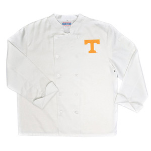 NCAA Tennessee Volunteers Vols Classic Chef Coat Professional Style White