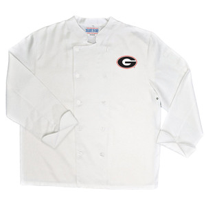 NCAA Georgia Bulldogs Dawgs Classic Chef Coat Professional Style White