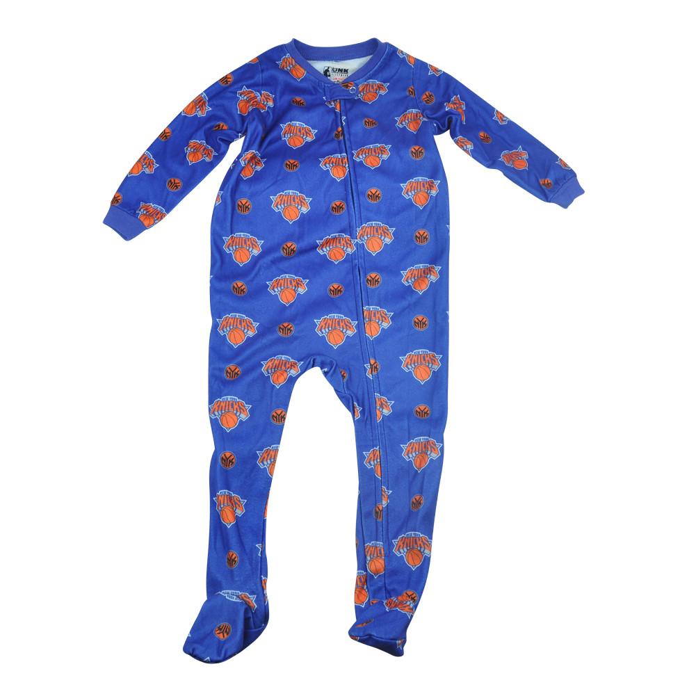 13ffa5d5e9a4 NBA UNK New York Knicks NY Toddler Footed Pajamas Bodysuit Zipper ...