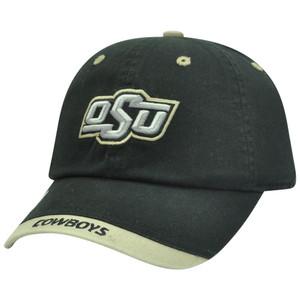 NCAA Oklahoma State Cowboys Garment Wash Slouch Fit Khaki Tip Sun Buckle Hat Cap