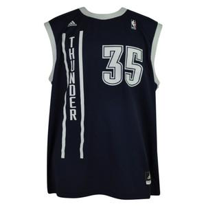 NBA Oklahoma City Thunder OKC Pro Cut 35 Kevin Durant Mens Jersey Adidas Navy