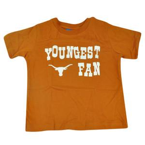 NCAA Texas Longhorns Haney Toddler Tshirt Youngest Fan Tee Burnt Orange Boys