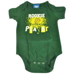 NCAA Oregon Ducks  Wild Horse Rookie Player Infant Bodysuit Creeper Green
