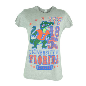 NCAA Florida Gators Cheerleader Distressed Womens Tshirt Shirt Ladies Tee
