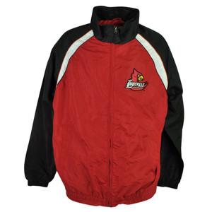 NCAA Louisville Cardinals Cards Clawson Jacket Mens Zipper Sweater Red Winter