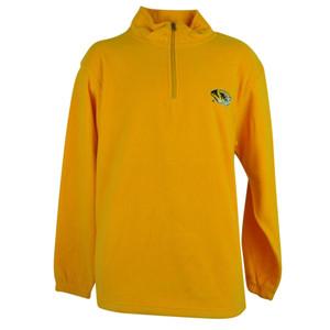 NCAA Missouri Tigers Mizzou Moose Jaw Fleece Yellow Sweater Turtle Neck Mens