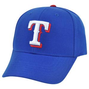 MLB '47 Brand Texas Rangers Baldschun Road Adjustable Constructed Velcro Hat Cap