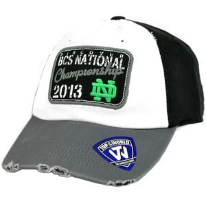 NCAA Notre Dame Fighting Irish 2013 BCS National Championship Game Ripped Hat