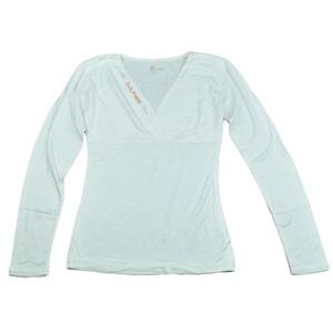 NFL Miami Dolphins The Blitz Women Ladies V-Cut Long Sleeve Glitter Shirt