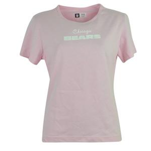 NFL Chicago Bears Windance Baby Doll Pink Womens Shirt Tee Tshirt Ladies