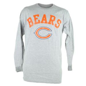 NFL Chicago Bears Dual Threat Long Sleeve Grey Mens Football Tshirt Tee