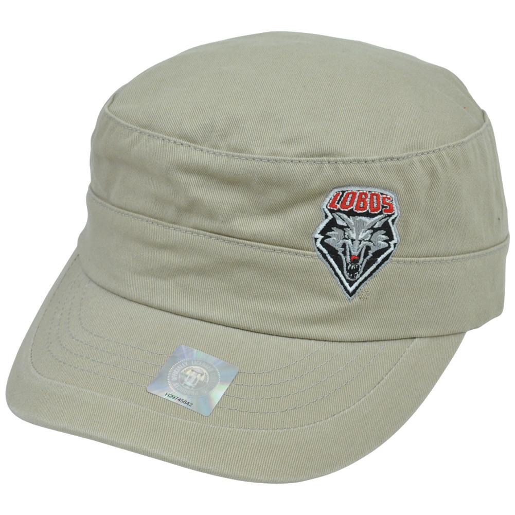 c7346e894e8 NCAA New Mexico Lobos Fatigue Military Hat Cadet Cap Adjustable Top ...