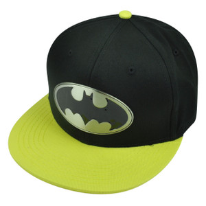 Batman Metal Badge Snapback Flat Bill Super Hero Cartoon DC Comic Books Hat Cap
