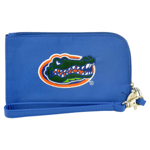 NCAA Florida Gators Clip On ID Wallet Wristlet Phone Case Ladies Womens Blue