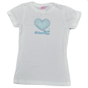 MLB Florida Miami Marlins White Blue Youth Kids Girls Baseball T shirt Sport Tee