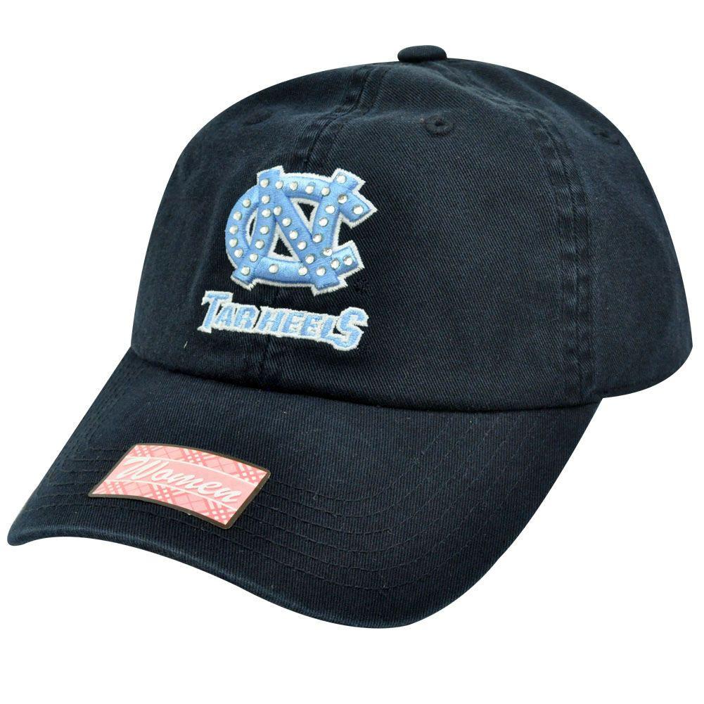 28ee6663a3 NCAA North Carolina Tar Heels Navy Light Blue Rhinestones Womens Ladies Hat  Cap