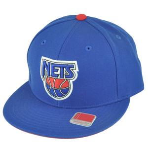 NBA Mitchell Ness TK40 New Jersey Nets Fitted Alternate Blue Hat Cap
