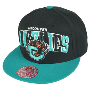 NBA Mitchell Ness G022 Vancouver Grizzlies Multicolor Fitted Hat Cap