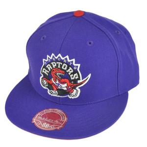 NBA Mitchell Ness TK07  Toronto Raptors Purple Team Second Fitted Hat Cap