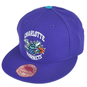 NBA Mitchell Ness TK07 Charlotte Hornets Purple Second Fitted Hat Cap