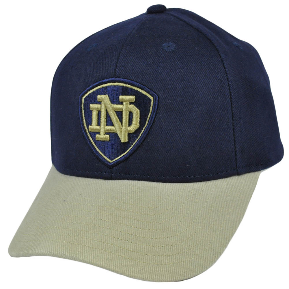 low priced fae96 87abd NCAA Notre Dame Fighting Irish Curved Bill Cap Adjustable Constructed  Adidas Hat. Image 1
