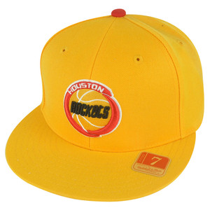NBA Mitchell Ness TK07  Houston Rockets Yellow Team Second Fitted Hat Cap