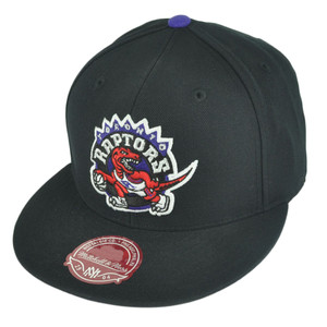 NBA Mitchell Ness TK07  Toronto Raptors Black Team Second Fitted Hat Cap