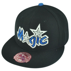 NBA Mitchell Ness TK07  Orlando Magic Black Team Second Fitted Hat Cap