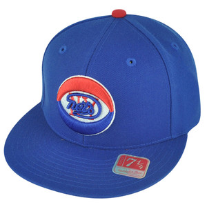 ABA Mitchell Ness TK07  New York Nets Team Second Fitted Flat Bill Hat Cap