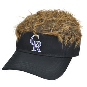 MLB Colorado Rockies Creed Flair Brown Hair Visor Adjustable Fan Velcro Hat Cap