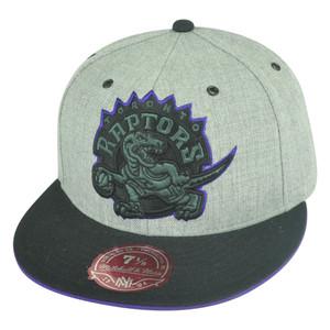 NBA Mitchell Ness Toronto Raptors TV28 XL Logo Heather Fitted Hat Cap