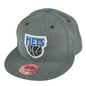 NBA Mitchell Ness TX59 Heather Wool New Jersey Nets Fitted Hat Cap