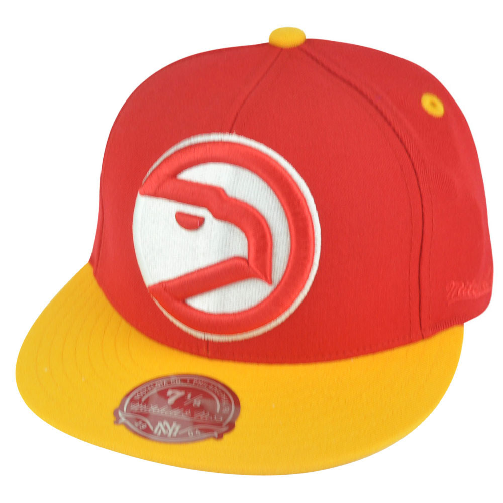0ab6b1b7372 NBA Mitchell Ness Atlanta Hawks TU20 2 Tone XL Logo Fitted Hat Cap. Image 1