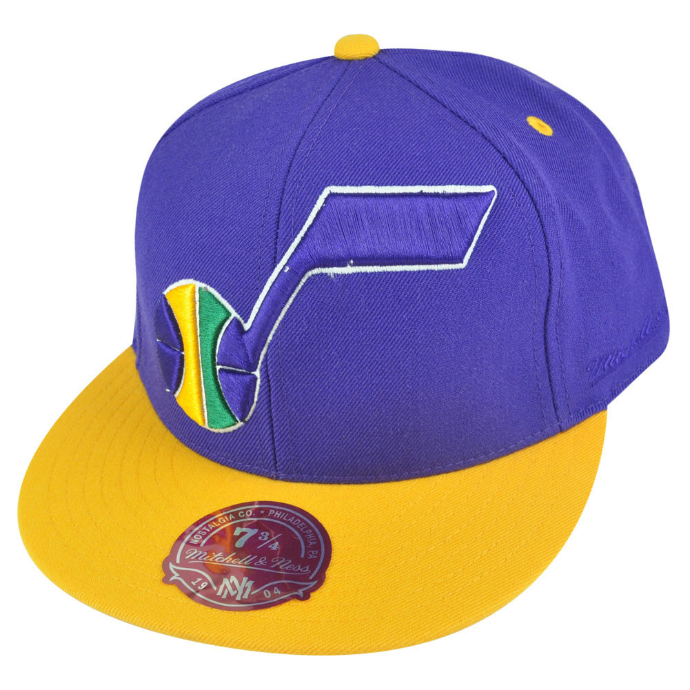 e97245654c5 NBA Mitchell Ness Utah Jazz TU20 2 Tone XL Logo Fitted Hat Cap - Cap ...