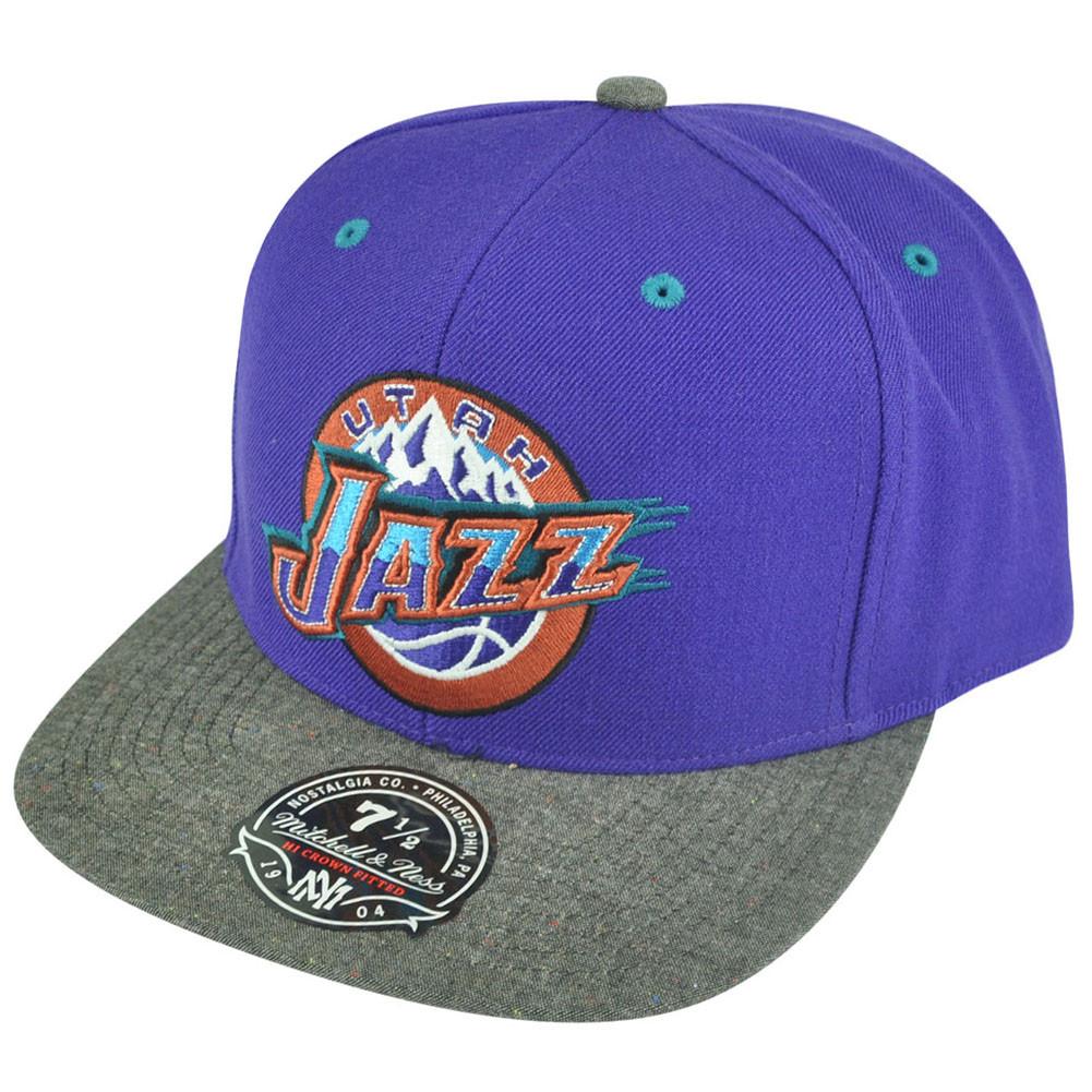NBA Mitchell Ness Utah Jazz G164 Donegal Visor Fitted Hat Cap - Cap ... 6ed9d9d7a0d2