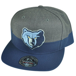 NBA Mitchell Ness G149 Memphis Grizzlies Heather Fitted Hat Cap