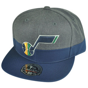 NBA Mitchell Ness G149 Utah Jazz Charcoal Heather Fitted Hat Cap