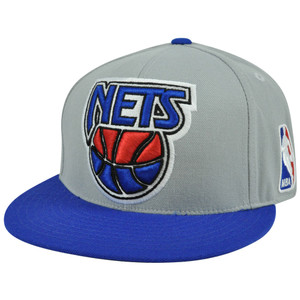 NBA Mitchell & Ness TU92 Two Tone Color New Jersey Nets Fitted Hat Cap
