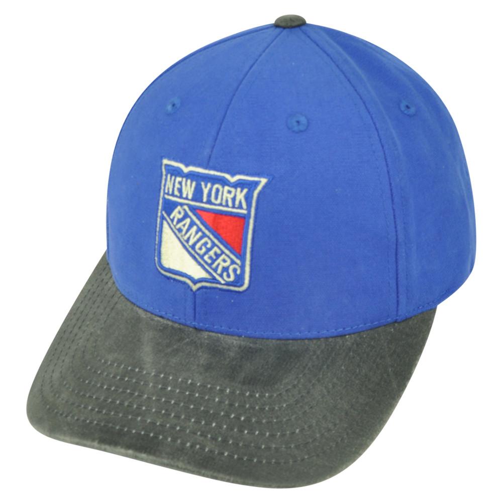 7d041c8fc9a NHL American Needle New York Rangers Gilyard Sun Buckle Hat Cap Blue ...