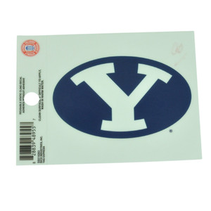 NCAA Brigham Young Cougars Static Cling Decal Reusable 4x3 Color Fan Sticker