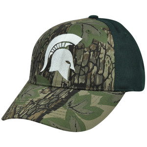 NCAA Michigan State Spartans Freshman Camouflage Adjustable Curved Bill Hat Cap