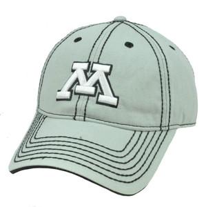 NCAA Minnesota Golden Golphers Semi Constructed Platinum Clean Up Hat Cap Velcro