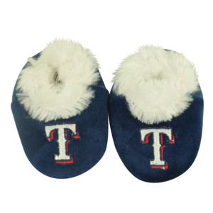 MLB Texas Rangers Infant Baby Faux Fur Sport Team Slippers Warm Booties